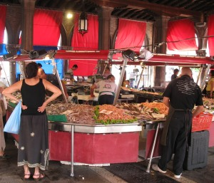 A Stall in Venice's Fish Market