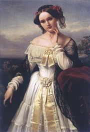 Mathilde Wesendonck (1850) by Karl Ferdinand Sohn, in the StadtMuseum Bonn