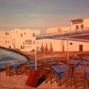 Tavern in Little Venice, Naoussa, Paros