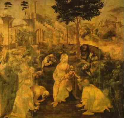 Adoration of the Magi - Leonardo da Vinci 1482