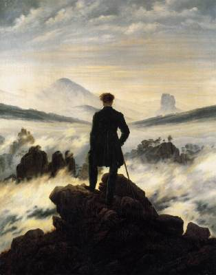 The Wanderer above a sea of mist