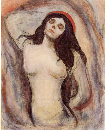 Edvard Munch, Madonna, Hamburg, Oil on canvas