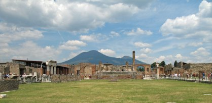 View of Pompei with Vesuvius in the background