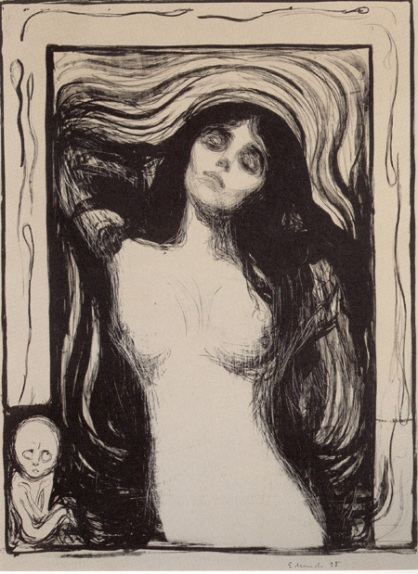 Edvard Munch, Madonna, Wurth Foundation, Lithograph
