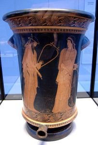 Sappho and Alkaios, Kalathos from Akragas, Sicily, 470BC