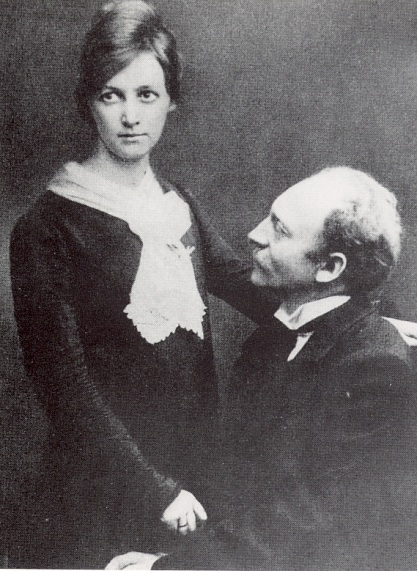 Emil and Ada Nolde on their wedding day, 1902
