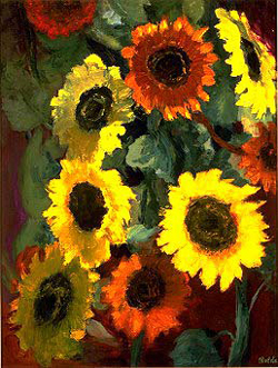Glowing Sunflowers (1936)