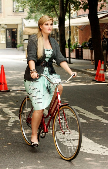 Real Beauty - A Beautiful Woman on a Bicycle.