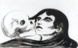 Edward Munch - The Kiss of Death