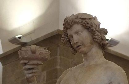 Michelangelo: Bacchus, detail, Museo del Bargello, Firenze