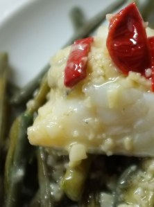 String beans with bacalao (Detail)