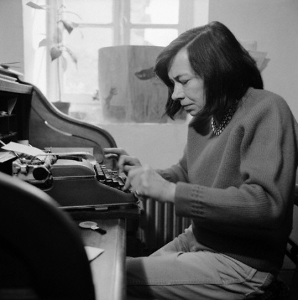 Patricia Highsmith and her Olympia typewriter