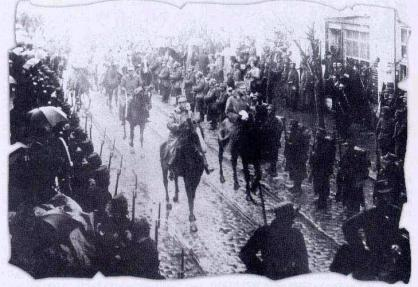 The Greek Army entering Thessaloniki, 1912