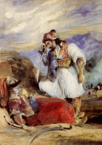 Eugene Delacroix, The Giaour over the dead Pasha