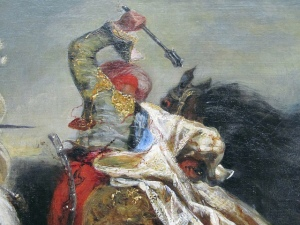 Eugene Delacroix: Combat of the Giaour and the Pasha (detail)