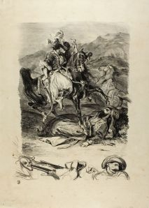 Eugene Delacroix, Combat Between Giaour and Pasha, 1827, Art Institute of Chicago