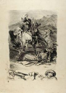 Eugene Delacroix, Combat Between Giaour and Pasha, 1827, Art Institute of Chicago