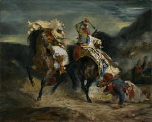 Eugene Delacroix: Combat of the Giaour and the Pasha