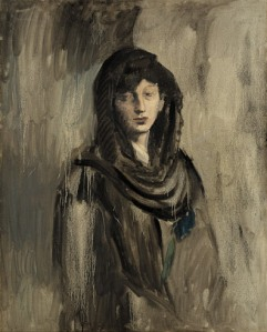 Pablo Picasso, Fernande with a Black Mantilla (Fernande à la mantille noire), Paris, 1905–06. Oil on canvas. Solomon R. Guggenheim Museum, New York, Thannhauser Collection,