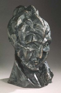 Pablo Picasso, Head of a Woman (Fernande) c 1909, bronze, Art Gallery of Ontario
