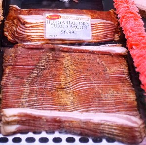 Hungarian dry cured bacon