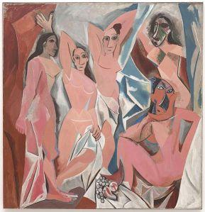Pablo Picasso, Les Demoiselles d'Avignon. Oil on Canvas, 1907, MOMA, New York