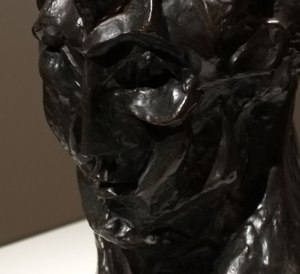 Pablo Picasso, Head of a Woman (Fernande), detail - autumn 1909, bronze, Art Institute of Chicago