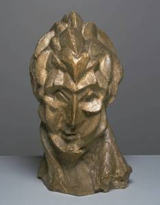 Pablo Picasso, Head of a Woman (Fernande) 1909, Plaster, Tate Gallery