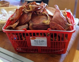Pig's ears for dogs