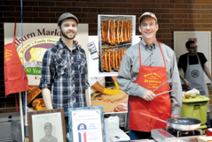 Randy Ream, (right) owner of Ream's Meat Market, with his son, Joel (Elburn Herald, 2011)