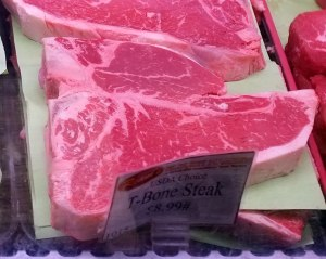 T-bone beef steak