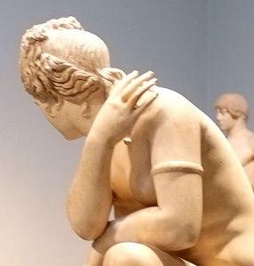 Crouching Aphrodite - detail