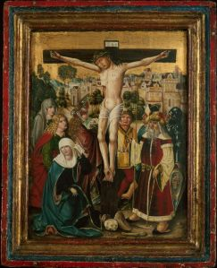 Austrian or Bavarian, The Crucifixion, 1494, Oil on panel, Art Institute of chicago