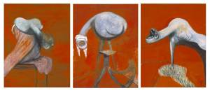 Francis Bacon, Three Studies for Figures at the Base of a Crucifixion c.1944, Tate Gallery, London