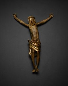 Jacques de Baerze, Corpus of Christ from the Altarpiece of the Crucifixion, 1391–99, Walnut with traces of polychromy and gilding