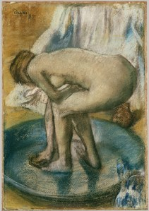 Woman Bathing in a Shallow Tub, 1885 Edgar Degas (French, 1834–1917) Charcoal and pastel on paper, Metropolitan Museum, New York