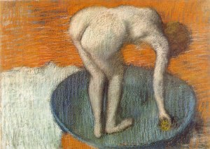 Edgar Degas, The Tub, c.1896-1901, Pastel on wowe paper, Glasgow Museums