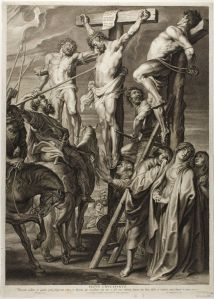 Boetius Adams Bolswert, The Crucifixion, 1631, Engraving on ivory laid paper, Art Institute of Chicago