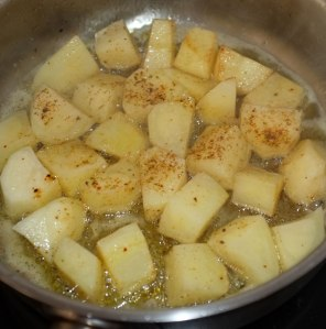 Potatoes in olive oil and butter