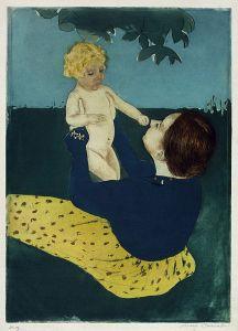 Mary Cassatt: Under the chestnut tree