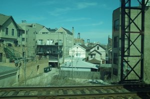 On the train from Geneva Illinois to Chicago and back