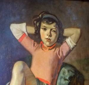 Balthus, Girl with Cat, Art Institute of Chicago - detail