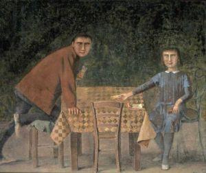 Balthus, The Cardgame, 1973, Museum Boijmans van Beuningen, Rotterdam, Netherlands