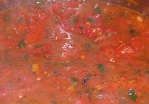 Tomato sauce - stage 2