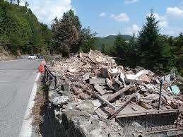 Rubble after the explosion in OSteria Camugnone