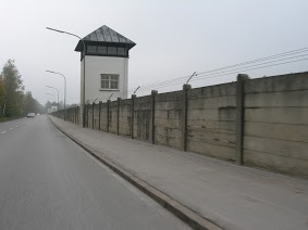 Dachau Concentration Camp - The perimeter fence from the outside