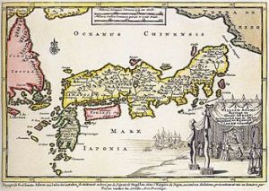 1707 Map of Japan