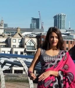 Photo shoot on London's Millennium Bridge