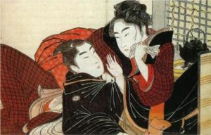 Kitagawa Utamaro: A scene from the poem of the pillow