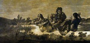 Francisco de Goya, Atropos, or the Fates, técnica mixta sobre revestimiento mural, 123 x 266 cm. Museo del Prado (Madrid, España)